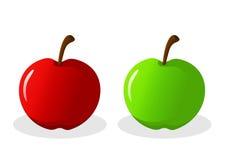 Wektor Zielony Czerwony Apple Zdjęcia Stock