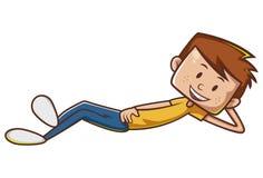 Wektorowa Śliczna kreskówki chłopiec ilustracja fotografia stock