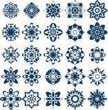 Wektorowa śnieżna płatek kolekcja Zdjęcie Stock