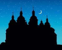 Wektorowa świętego Sophia katedra w Kijów, Ukraina royalty ilustracja