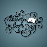 Wektorowa Światowy Książkowego i Copyright dnia inskrypcja ilustracji