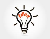 Wektorowa żarówki ikona z pojęciem pomysł Obrazy Royalty Free