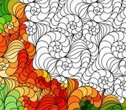 Wektorowa abstrakcjonistyczna bezszwowa ręka rysujący fantazja wzoru ornamenty Obrazy Stock