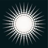Wektorowa Abstrakcjonistyczna Czarny I Biały słońce ilustracja Fotografia Royalty Free
