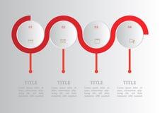 Wektorowa abstrakcjonistyczna elementu infographics 4 opcja ilustracji