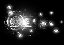 Wektorowa abstrakcjonistyczna inżynierii przyszłości technologia ilustracja wektor
