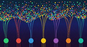 Wektorowa abstrakcjonistyczna kolorowa duża dane informacja sortuje unaocznienie ilustracja wektor