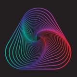 Wektorowa abstrakcjonistyczna kolorowa przekształcona trójboka kształta loga ikona royalty ilustracja