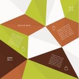 Wektorowa abstrakcjonistyczna mozaika - szablon z miejscem dla zawartości. Abstra Ilustracji