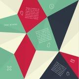 Wektorowa abstrakcjonistyczna mozaika - szablon z miejscem dla zawartości Abstra Ilustracja Wektor