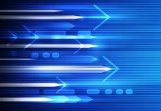 Wektorowa Abstrakcjonistyczna prędkości i ruchu plama, nauka, futurystycznej, energetycznej technologii tło, Zdjęcia Royalty Free