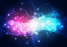 Wektorowa abstrakcjonistyczna przyszłościowa technologia, ilustracyjny tło Zdjęcia Stock