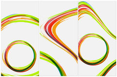 Wektorowa abstrakcjonistyczna szablon ulotka, zaproszenie lub Zdjęcie Stock
