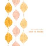 Wektorowa abstrakcjonistyczna złota cymy vertical rama Fotografia Royalty Free
