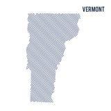 Wektorowa abstrakt fala mapa stan Vermont odizolowywał na białym tle Fotografia Stock