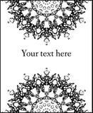 Wektorowa abstrakt karta z kwiecistym round wzorem Zdjęcie Stock