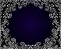 Wektorowa abstrakt rama na błękitnym gradientowym tle z fryzowanie elementami royalty ilustracja