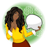 wektorowa Amerykanin afrykańskiego pochodzenia kobieta Zdjęcie Stock