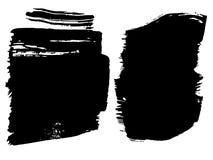 Wektorowa artystyczna czarna farba, atrament lub akrylowy ręcznie robiony, Obrazy Royalty Free