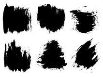 Wektorowa artystyczna czarna farba, atrament lub akrylowy ręcznie robiony, Fotografia Stock
