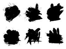 Wektorowa artystyczna czarna farba, atrament lub akrylowy ręcznie robiony, Zdjęcie Stock