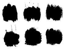 Wektorowa artystyczna czarna farba, atrament lub akrylowy ręcznie robiony, Zdjęcia Stock