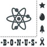Wektorowa atom ikona Zdjęcie Royalty Free