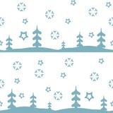 Wektorowa bezszwowa deseniowa zima Obraz Royalty Free