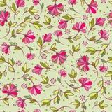 Wektorowa bezszwowa ilustracja z kwiatami Obraz Royalty Free