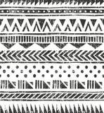Wektorowa bezszwowa plemienna tekstura royalty ilustracja