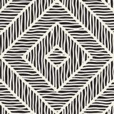 Wektorowa bezszwowa ręka rysujący wzór Zygzag i lampas szorstkie linie plemienny tło projekt Etniczna doodle tekstura Obrazy Royalty Free