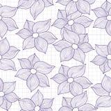Wektorowa bezszwowa tekstura kwiaty stylizował jako rysunki Obrazy Stock