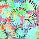Wektorowa bezszwowa tekstura pastel przekładnie i laurowi wianki w ka royalty ilustracja