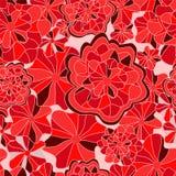 Wektorowa bezszwowa tekstura z abstrakcjonistycznym kwiatem etniczny bezszwowy pa Obrazy Royalty Free