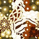 Wektorowa bezszwowa tekstura z abstrakcjonistycznym kwiatem etniczny bezszwowy pa Obraz Stock