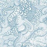 Wektorowa bezszwowa tekstura z abstrakcjonistycznymi kwiatami Niekończący się backgroun Zdjęcia Royalty Free
