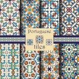 Wektorowa bezszwowa tekstury kolekcja Set piękni barwioni wzory Zdjęcia Royalty Free