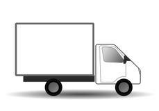 Wektorowa Biała miasto ciężarówka Zdjęcie Stock