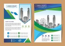 Wektorowa Biznesowa broszurka, ulotki projektuje szablonu, firma profilu, magazynu, plakata, sprawozdania rocznego, ksi??ki & bro ilustracji