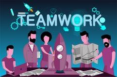 Wektorowa biznesowa ilustracja Pracy zespołowej pojęcie royalty ilustracja