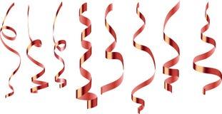 Wektorowa Burgundy tasiemkowa serpentyna na przejrzystym tle ilustracja wektor