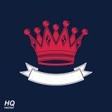 Wektorowa cesarska korona z undulate faborek Klasyczny coronet z ilustracji