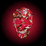 Wektorowa Cukrowa czaszka z ornamentem royalty ilustracja