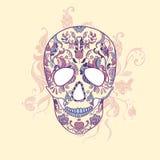 Wektorowa Cukrowa czaszka z ornamentem Zdjęcia Stock