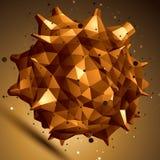 Wektorowa cyfrowa 3d abstrakcja, kratownica geometryczny element Zdjęcie Stock