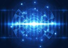 Wektorowa cyfrowa falowa technologii przyszłość, abstrakcjonistyczny tło Obraz Stock