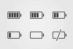 Wektorowa czarna bateryjna ikona Fotografia Royalty Free