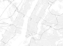 Wektorowa czarna mapa Nowy York ilustracja wektor