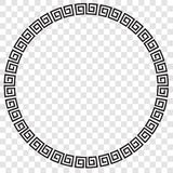 Wektorowa Czarna okrąg rama dla świadectwa, plakat Iść XI. Cai sadło, Imlek moment lub inny Chiny Odnosić sie przy przejrzystym s royalty ilustracja