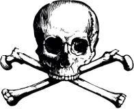 Wektorowa czaszka i crossbones ilustracji